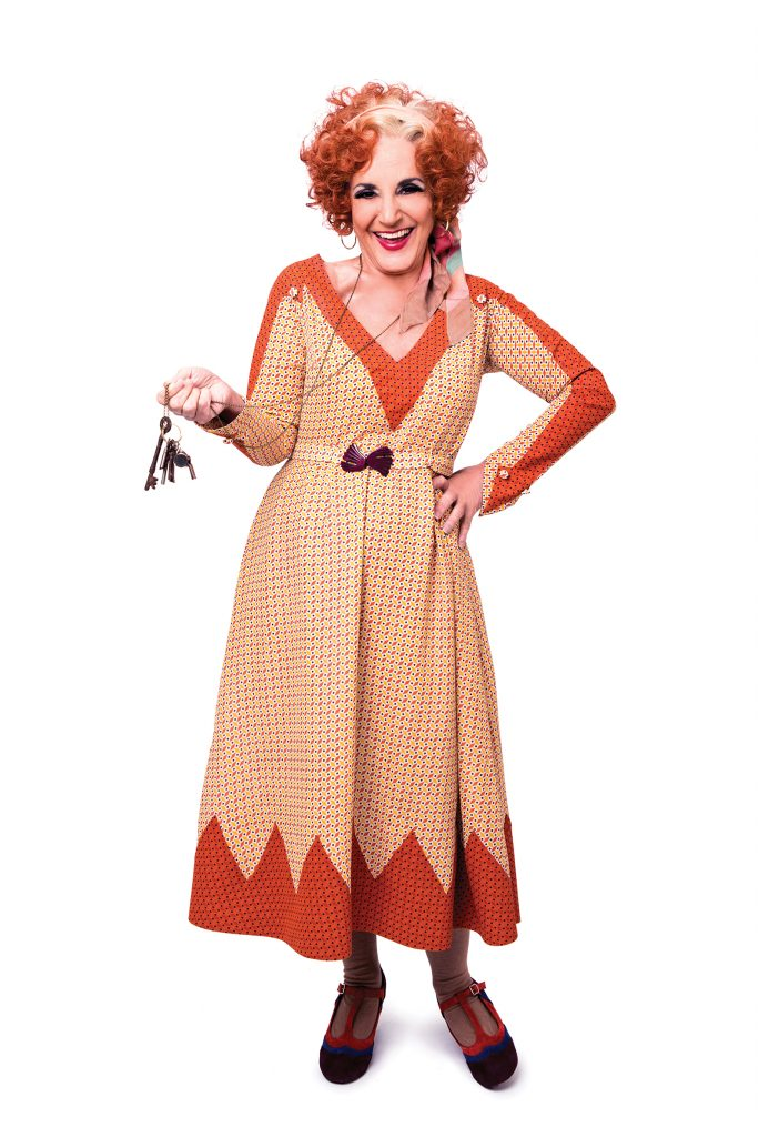 ANNIE. Lesley Joseph as 'Miss Hannigan'. Photo Credit Matt Crockett